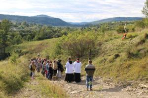 Msza Święta w kapliczce na Wierzchgórze
