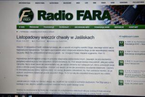 Radiowa relacja z listopadowego Wieczoru Chwały